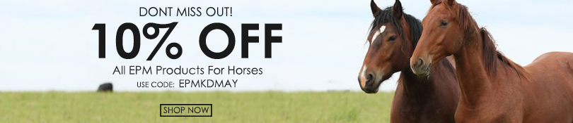 10% off EPM products for horses