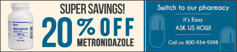Metronidazole 20% Off