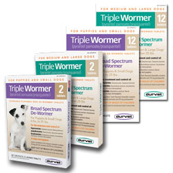 Triple Wormer Chew Tablets