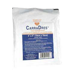 "CarraDres Clear Hydrogel Sheet 4"" x 4"" Sterile"
