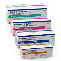 Clavamox Chewable Tablets