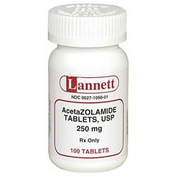 Acetazolamide 125mg - 100 Tablets