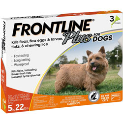 Frontline Plus for Dogs 5-22 lbs.