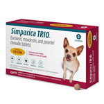 Simparica Trio Chewable Tablets for Dogs, 2.8-5.5 lbs