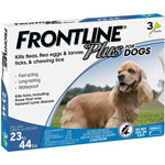 Frontline Plus for Dogs 23-44 lbs.