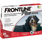 Frontline Plus for Dogs 89-132 lbs.