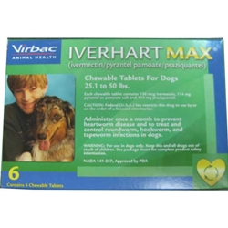 Iverhart Max Dogs 25 1 to 50 Lbs (Green)