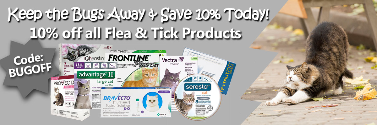 10% Off ALL Flea/Tick Products!